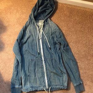 Rag & Bone Denim Hooded Jacket